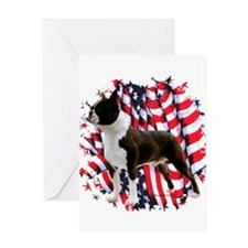 Cute Bull terrier dog breed Greeting Card