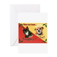Cute Naughty and nice Greeting Card