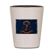 North Dakota State Flag VINTAGE Shot Glass