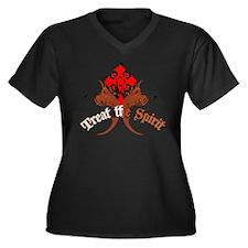 StarCrossed Women's Plus Size V-Neck Dark T-Shirt