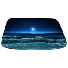 Moonlight Waves Bathmat