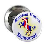 Kansas Votes Democrat Political Button