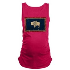 Wyoming Flag VINTAGE Maternity Tank Top