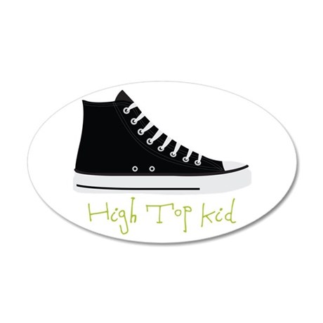 High Top Kid Wall Decal