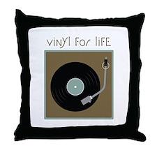 Vinyl For Life Throw Pillow