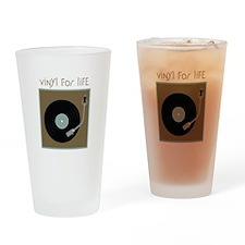 Vinyl For Life Drinking Glass
