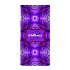 Monogrammed Tie Dye Floral Personalize Beach Towel