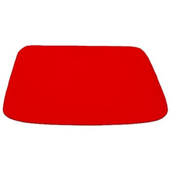 Solid Red Bathmat