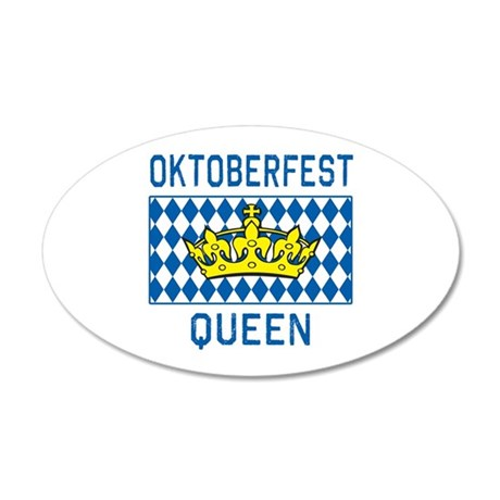 OKTOBERFEST Queen 20x12 Oval Wall Decal