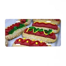 hotdog cookies Aluminum License Plate