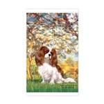 Spring & Cavalier Sticker (Rectangle)