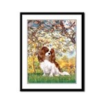 Spring & Cavalier Framed Panel Print
