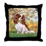 Spring & Cavalier Throw Pillow