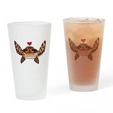 Sea Turtle Love Drinking Glass