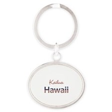 Custom Hawaii Oval Keychain
