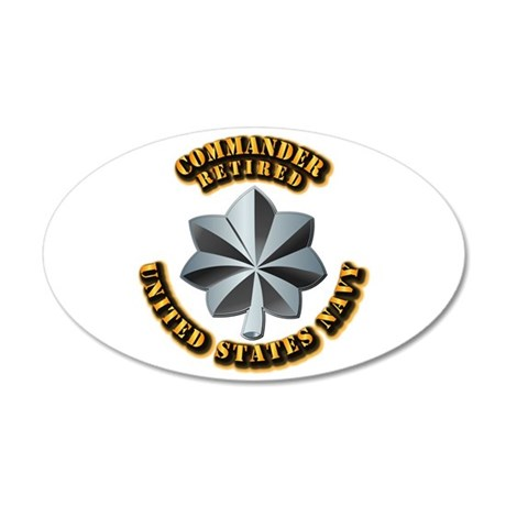 Navy - Commander - O-5 - V1 35x21 Oval Wall Decal