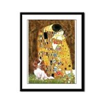 The Kiss & Cavalier Framed Panel Print