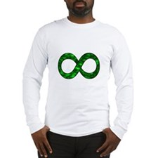 Green Infinity Symbol Long Sleeve T-Shirt
