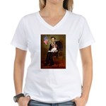 Lincoln's Cavalier Women's V-Neck T-Shirt