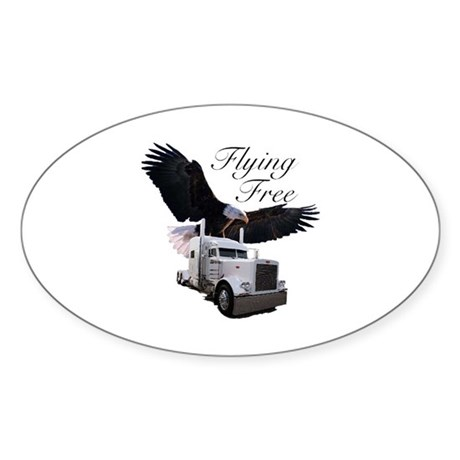 Flying Free Oval Sticker