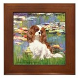Lilies2 &amp; Cavalier Framed Tile