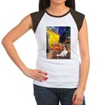 Cafe & Cavalier Women's Cap Sleeve T-Shirt