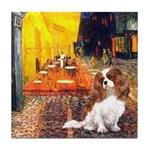 Cafe & Cavalier Tile Coaster