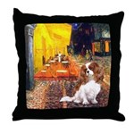 Cafe & Cavalier Throw Pillow