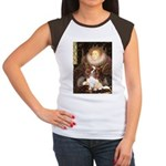 The Queen's Cavaliler Women's Cap Sleeve T-Shirt