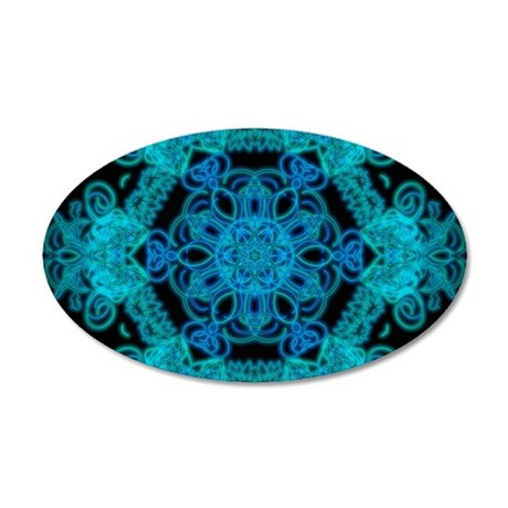Burst Of Blue Mandala Wall Sticker