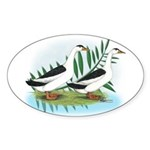 Magpie Drake and Duck Oval Sticker