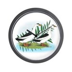 Magpie Drake and Duck Wall Clock
