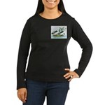 Magpie Drake and Duck Women's Long Sleeve Dark T-S