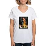 Fairies & Cavalier Women's V-Neck T-Shirt