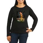 Fairies & Cavalier Women's Long Sleeve Dark T-Shir