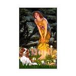 Fairies & Cavalier Sticker (Rectangle)