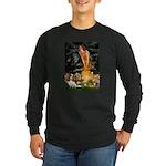 Fairies & Cavalier Long Sleeve Dark T-Shirt