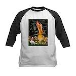 Fairies & Cavalier Kids Baseball Jersey