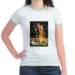 Fairies & Cavalier Jr. Ringer T-Shirt