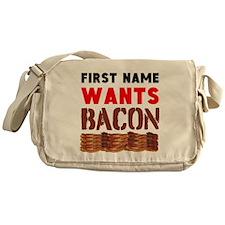 Wants Bacon Messenger Bag