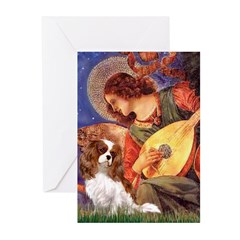 Mandolin Angel & Cavalier Greeting Cards (Pk of 10
