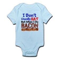 I Dont Usually Eat But When I Do Bacon Body Suit