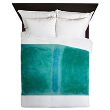 ROTHKO SHADES OF GREEN BLUE Queen Duvet
