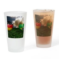 Cute 3d soccer ball Drinking Glass