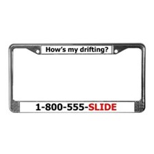 How's my drifting license plate frame