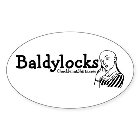 Baldylocks Oval Sticker