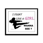Fight Like A Girl 1 Framed Panel Print