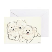 Samoyed Puppies Greeting Cards (Pk of 10)