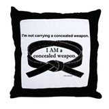 Concealed Weapon Throw Pillow
