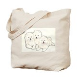 Samoyed Puppies Tote Bag